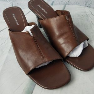Naturalizer | Brown Heeled Slide Sandal